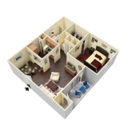 The Lockwood - 3D Floor Plan (Furnished)