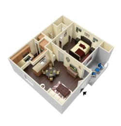 The Marlow - 1 Bed, 1 Bath (With Furniture)