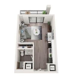 S1 Floor Plan at Alameda West, Miami, Florida