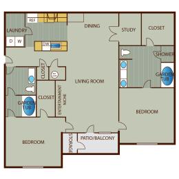 Floor Plan 2 Bedroom Deluxe