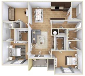 Floor Plan 2 Bedroom + Study