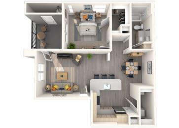 A1 Floor Plan at Grayson Place Apartments, P.B. BELL Assets Management, Goodyear, AZ
