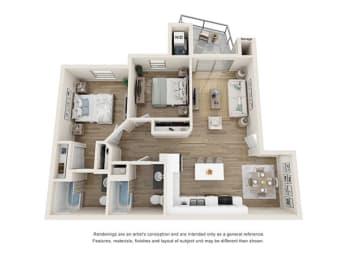 2 bedroom 2 bath at Cortona Point Apartments Goleta, CA 93117