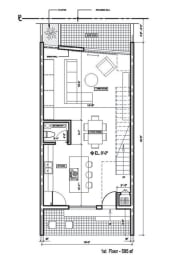 Floor Plan 3 Bed + 2-1/2 Bath Townhouse