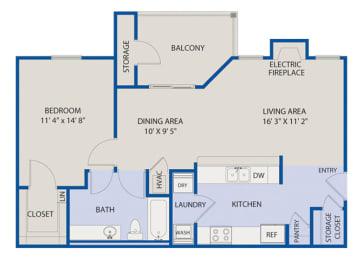 Large 1 Bedroom- Phase I