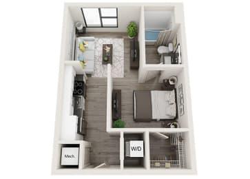 S2 Floor Plan at Link Apartments® Innovation Quarter, North Carolina, 27101