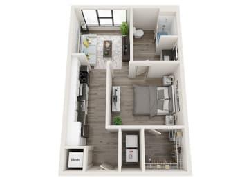S3-A Floor Plan at Link Apartments® Innovation Quarter, Winston Salem, NC