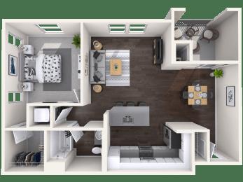 A1 Floor Plan at Mitchell Place Apartments, Murrieta, California
