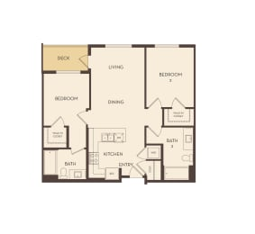B1 floor plan at Marc