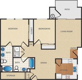 B1 floor plan at Santa Rosa