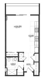 S2 floor plan at Village on Main Apartments