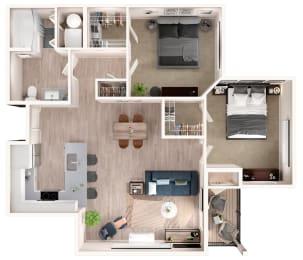 B1 Floor Plan at Zera at Reed Crossing