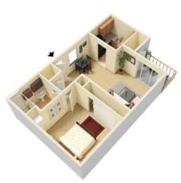 Luccia Floorplan One Bedroom One Bath