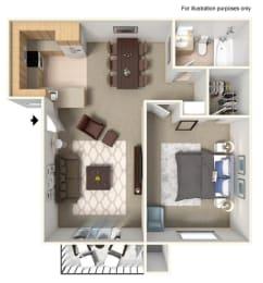 Floor Plan Kendalwood Club One Bed One Bath