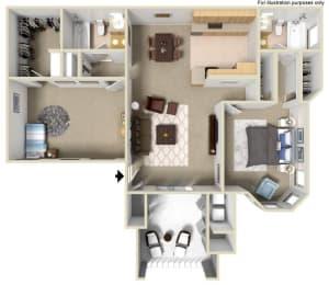 Floor Plan D 2x2