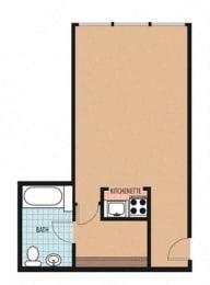 Clifton Floor Plan at Sarbin Towers, Washington, Washington