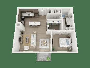 1 Bd - a4 floorplan at AVE Austin North Lamar, Austin, Texas