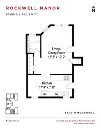 Rockwell Manor - Studio Floorplan