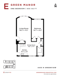 Green Manor - Studio Floorplan E
