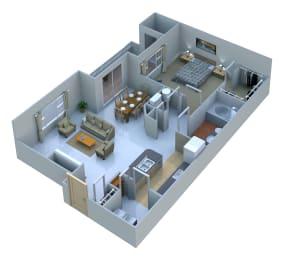 Floor Plan  1 Bedroom 1Bath