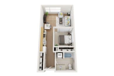 Floor Plan 1 bed, 1 Bath Open O2