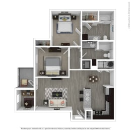 b1 floor plan in euless tx apartments