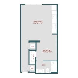 S1 Studio, one bedroom