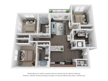 Armstrong Floor Plan at The Century at Purdue Research Park, West Lafayette, 47906