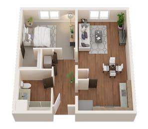 One Bedroom, One Bath Apartments in Downtown Sacramento   Legado de Ravel