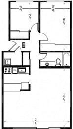 2 Bed - 1 Bath |942 sq ft