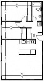 2 Bed - 1 Bath |919 sq ft