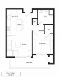 Floor Plan Apartment Residence Type One / 1