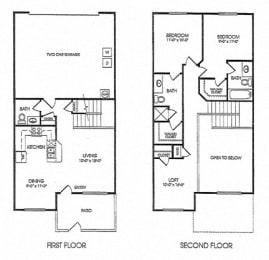 2 Bed - 2.5 Bath |1402 sq ft