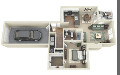 Cosmos 1/1 844 sq ft floor plan