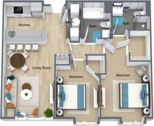 Floor Plan 2 Bedroom Station Square