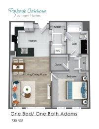 735 SQ FT CHELSEA PLACE