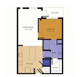 A1 Floor Plan at Alta East, Atlanta, Georgia