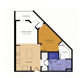 A3 Floor Plan at Alta East, Atlanta, Georgia