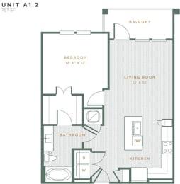 A1.2 Floor Plan at Alta East Shore, Apopka, 32703