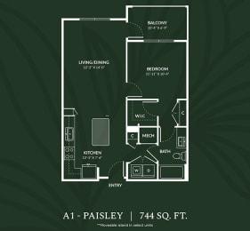 A1 PAISLEY Floor Plan at Alta Croft, North Carolina