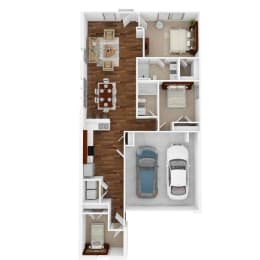 The Dublin Floor Plan at Balcara at Balmoral Luxury Rental Homes, Humble, TX