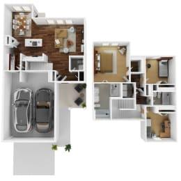 The Lismore Floor Plan at Balcara at Balmoral Luxury Rental Homes, Humble, 77396
