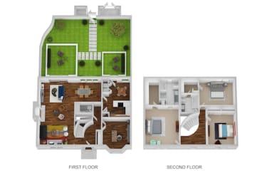 Appleby Floor Plan at Indian Creek Apartments, Cincinnati, Ohio