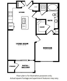 Floor Plan  A3(1) floor plan at Windsor Burnet, Texas, 78758