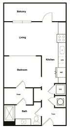 Floor Plan  Studio Floor Plan at Elevate West Village, Smyrna, Georgia