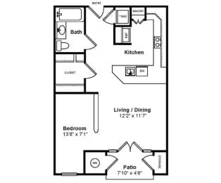 Floor Plan  M_Messina Floor Plan at Windsor at Midtown, Aurora, CO