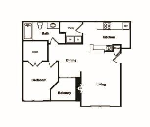 Floor Plan  A2 Floor Plan at Windsor on White Rock Lake, Dallas, Texas