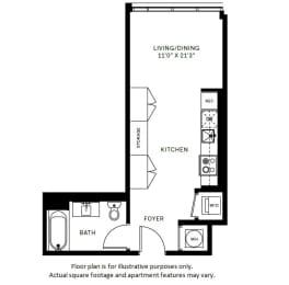 Floor Plan  S1 Floor Plan at 7770 Norfolk, Maryland, 20814