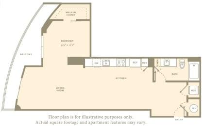 Floor Plan  S1 Floor Plan at Amaray Los Olas, FL, 33301