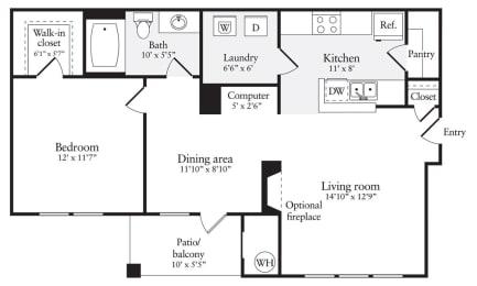 Floor Plan  A2R Floor Plan at Windsor Herndon, Virginia, 20171